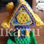 Свеча из вощины «Волшебный домик»