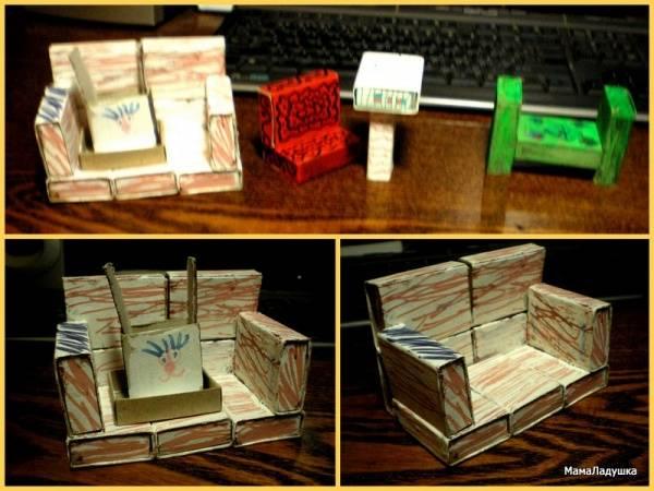 Мебель из спичечных коробков своими руками инструкция 80