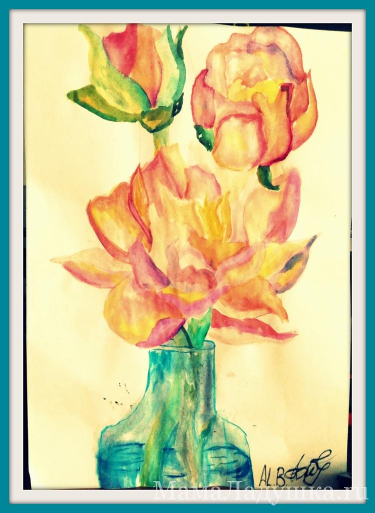 Цветы (акварель)