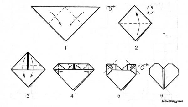 Сердечко-оригами