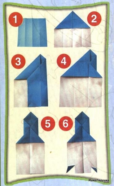 Ракета из бумаги для детей мастер класс