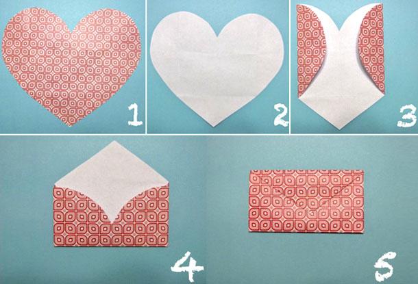 Как сделать своими руками валентинку из бумаги с фото
