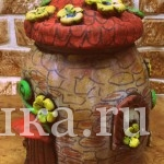 Декоративная баночка  — домик