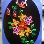 Цветочное панно — квиллинг