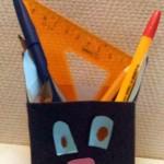 Кот — карандашница