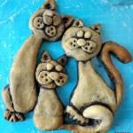 Котики и грибочек из соленого теста