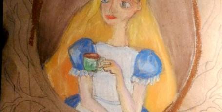Алиса — рисунки пастелью