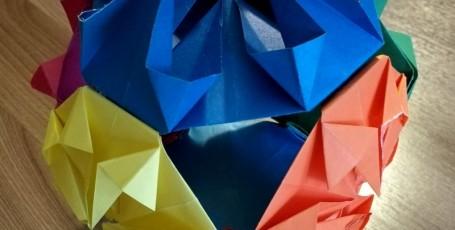 Модульное оригами. Кусудама «Бриллиант»