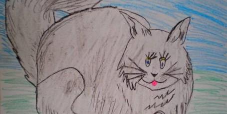 Бирманская кошка — рисуйте с нами!