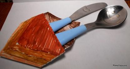 Оригами — салфетка для столовых приборов