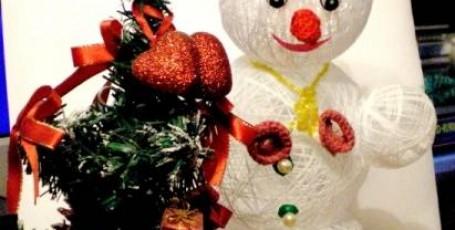 Снеговичок из волшебной паутинки