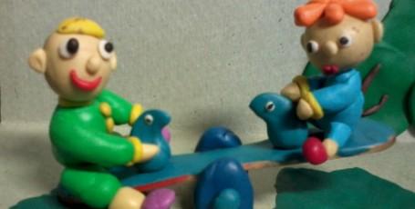 Детская площадка — лепим из пластилина