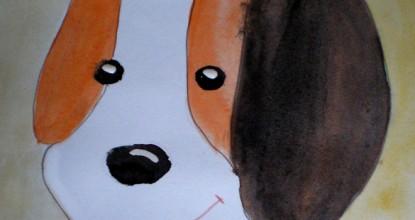 Рисуем акварелью — Рыжий щенок