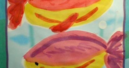 Рисуем акварелью — Рыбки