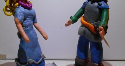 Герои легенды — пластилиновые персонажи