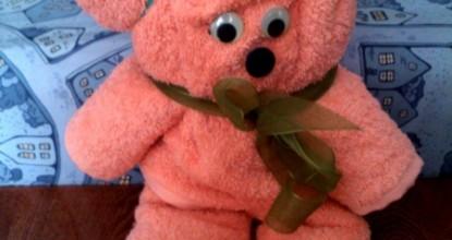Оригами из полотенец — медвежонок