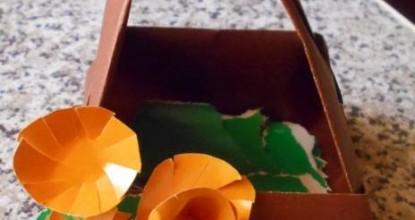 Цветочная корзинка — оригами
