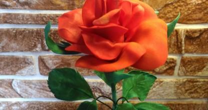 Красная роза  — фоамиран