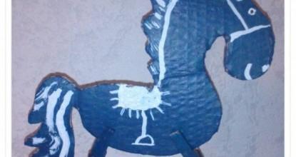 Синяя лошадка