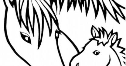 Раскраски Лошадки
