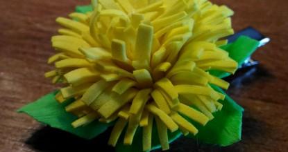 Одуванчик — заколка из фоамирана