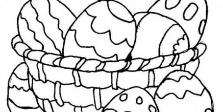 Пасхальные раскраски