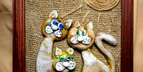 Панно «Котики»