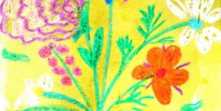 Открытка — Восковые цветы