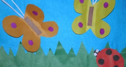Бабочки и божья коровка