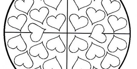 Мандалы — сердечки
