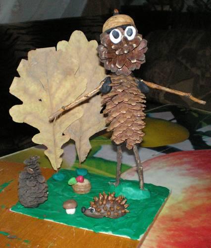 Домик лесовичка из природного материала своими руками 75