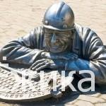 Достопримечательности Омска — Памятник слесарю Степанычу