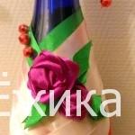 Бутылка с розами