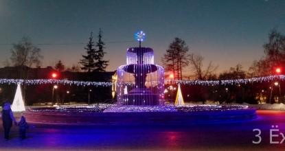 Город новогодний