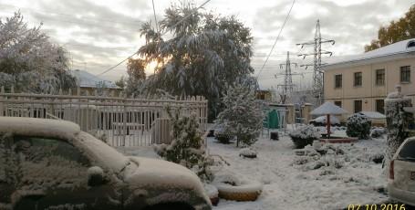 Первый снег — в моём городе вновь первый снег!
