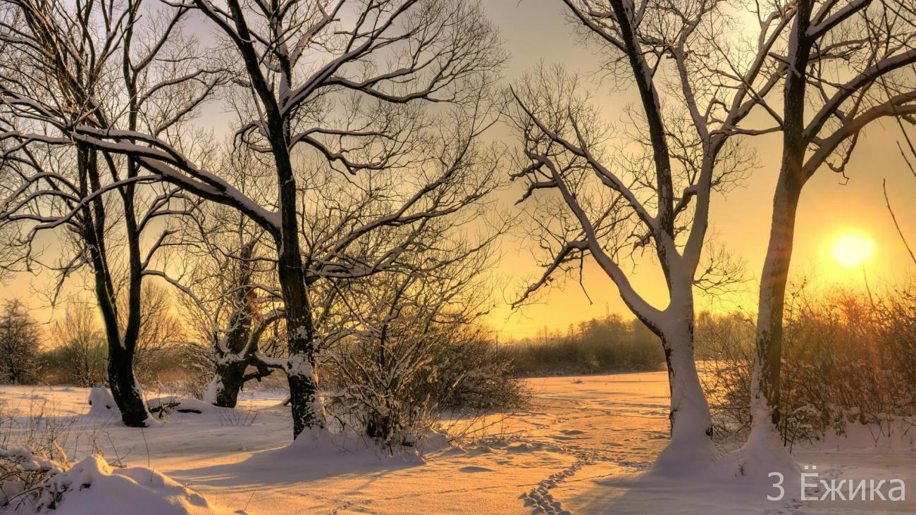 sunset-in-winter-nature-wallpaper